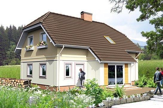 Одноэтажный дом с жилой мансардой