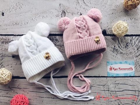 Вязаные шапочки для новорожденных и детей до 3-х лет
