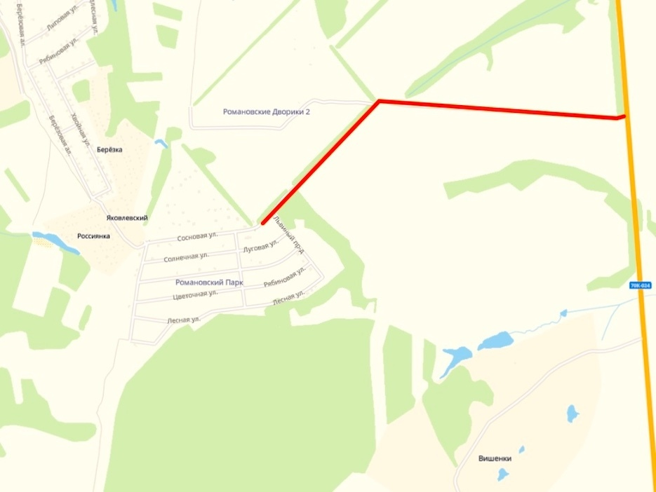 Асфальтировка подъездной дороги к «Романовскому Парку»