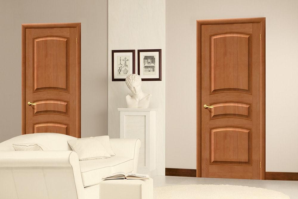 Двери из массива сосны – оригинальный элемент любого интерьера