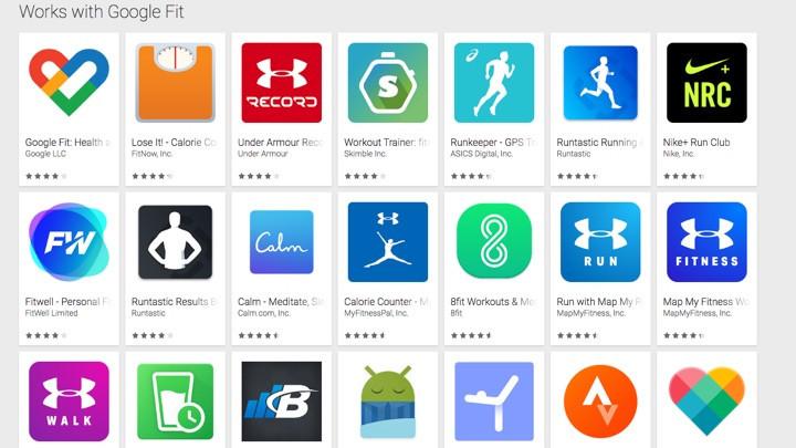 Совместимые приложения с Google Fit