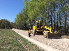 Строительная техника группы Develius Estate предоставлена для ремонта подъездной дороги в Заокском районе