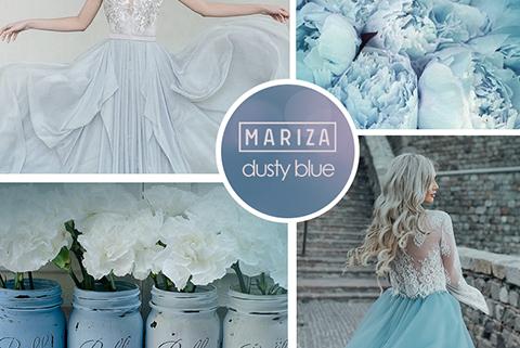 Модный цвет — dusty blue
