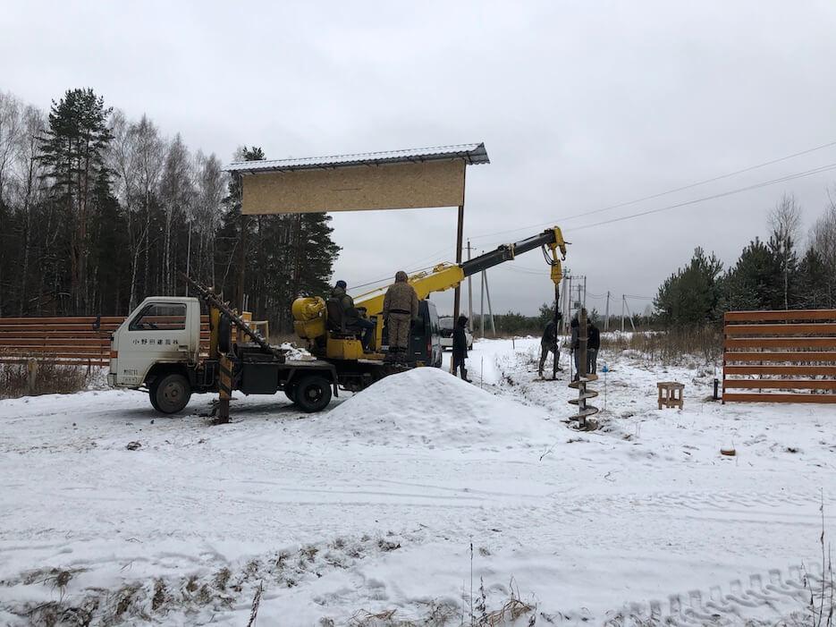 Фотоотчет о начале строительства здания КПП в «Усадьбе Романово»