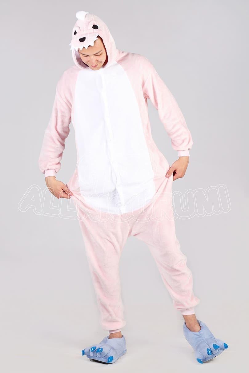 Обзор на пижаму кигуруми розового динозавра