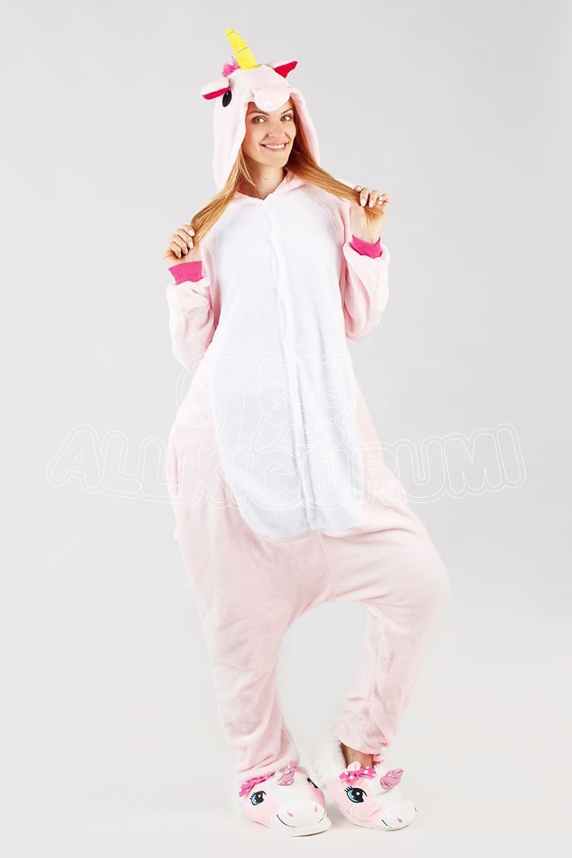 Обзор на пижаму кигуруми розового единорога
