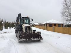 Спецтехника группы Develius Estate осуществляет регулярную уборку снега в «Романовском Парке»