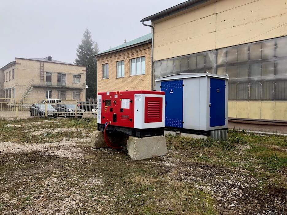 На территории комплекса Selhozka Loft установлен новый генератор