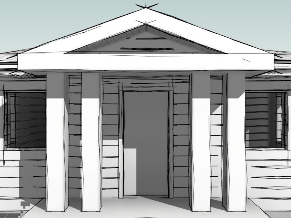 Общественные здания в «Усадьбе Романово» будут иметь квадратные колонны
