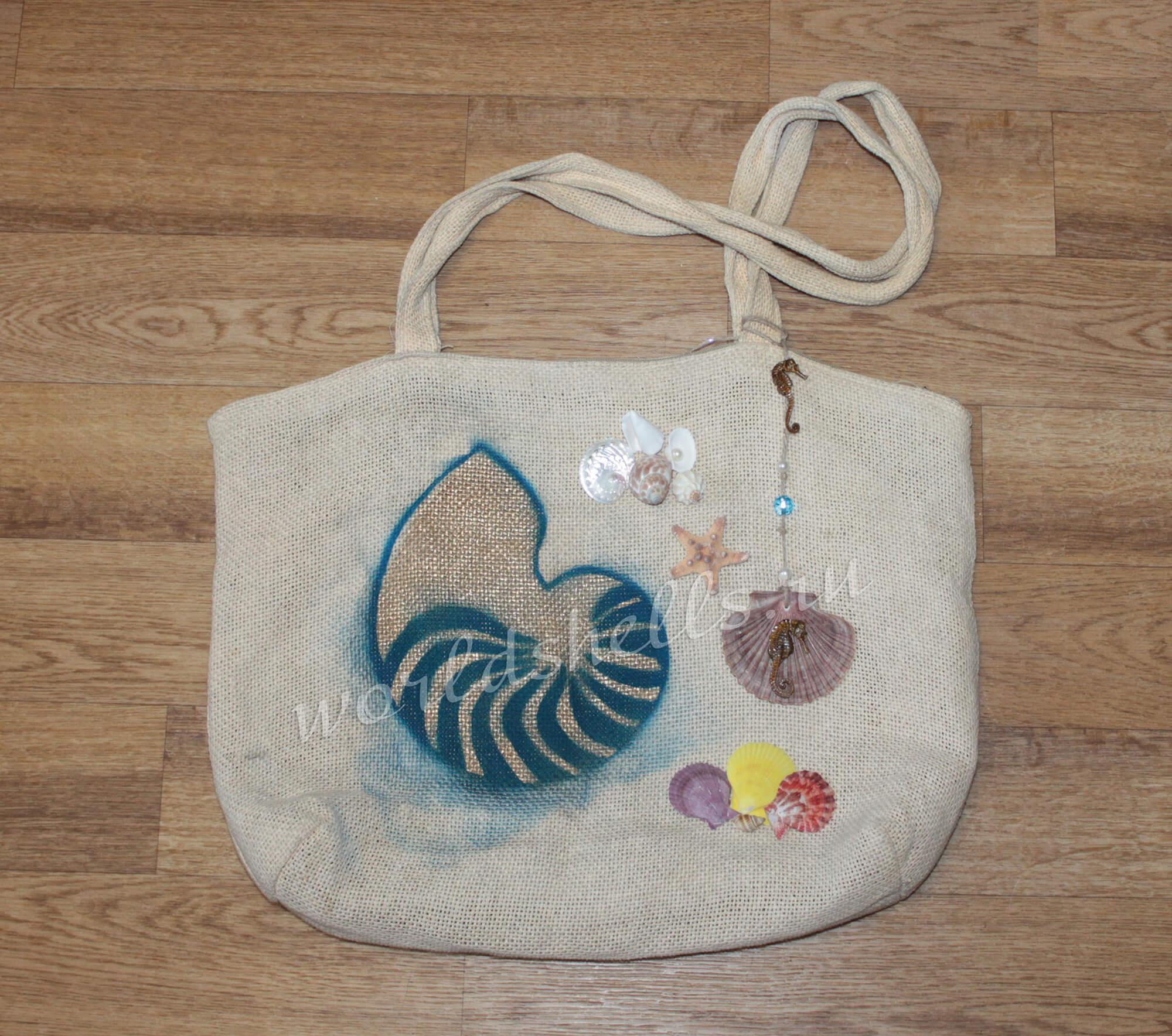 Пляжная сумка в морском стиле