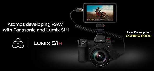 Panasonic S1H поддерживает вывод RAW на рекордеры Atomos