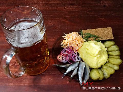 Сюрстремминг с картофелем пюре - рецепт