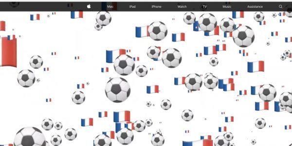 Apple обновила свой сайт в честь финала чемпионата мира по футболу