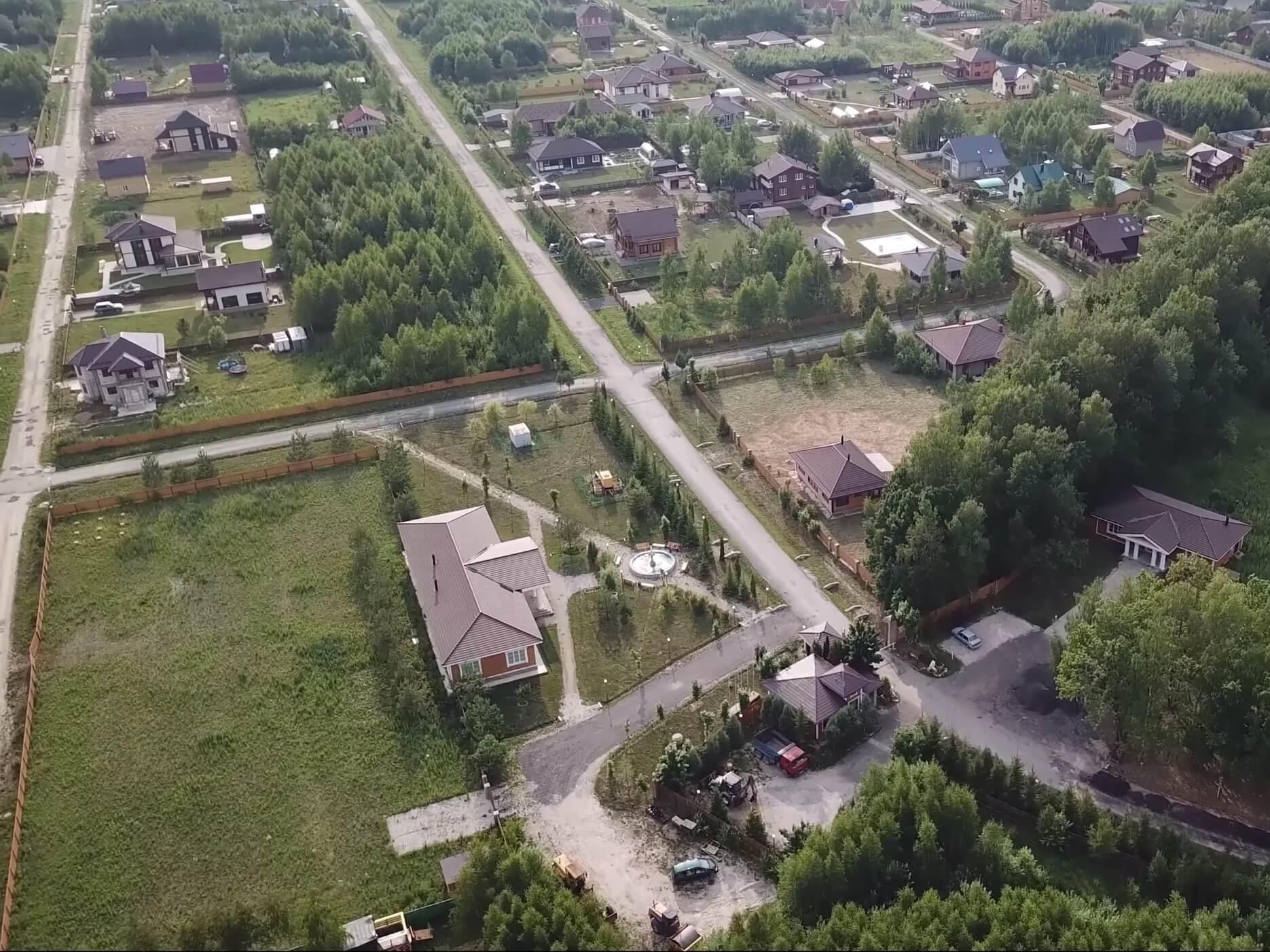 Аэрофотосъемка «Романовского Парка». Июль 2019