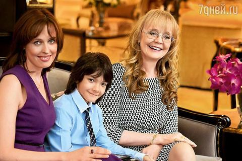 Наталья Белохвостикова с семьей в