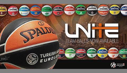 Spalding представляет новую коллекцию мячей Евролиги UNITE