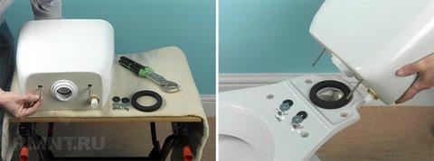 Ремонт и замена сливной арматуры бачка унитаза