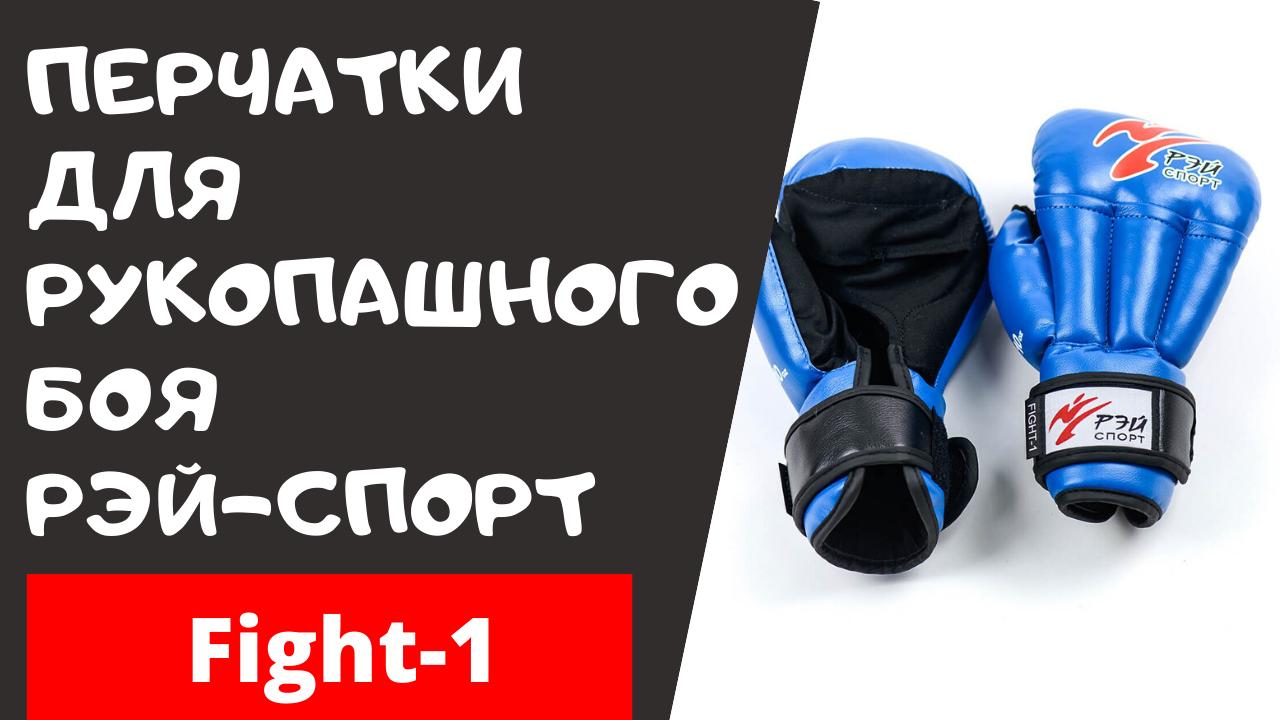 Обзор. Перчатки для рукопашного боя Рэй спорт Fight-1