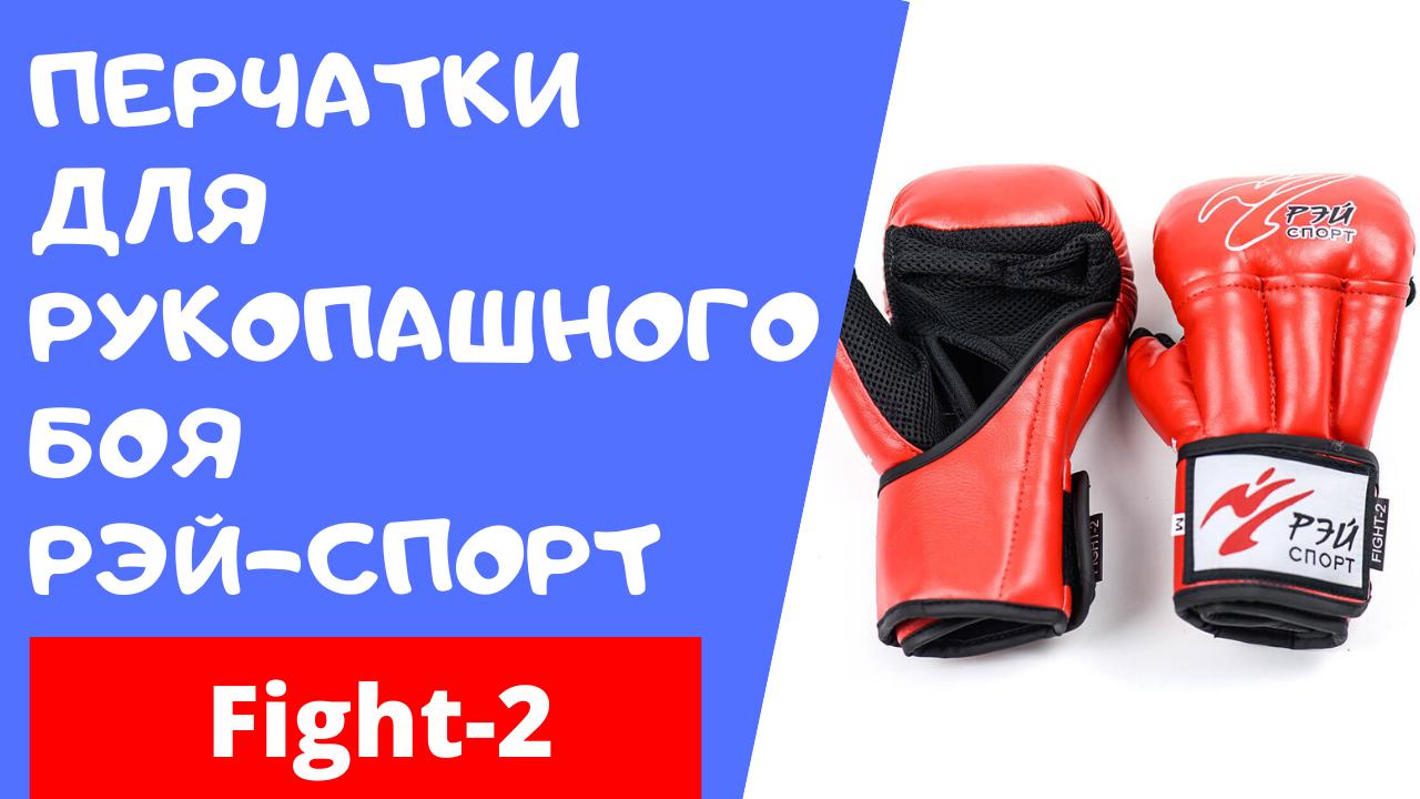 Обзор перчаток для рукопашного боя от фирмы Рэй-спорт. Модель Fight-2