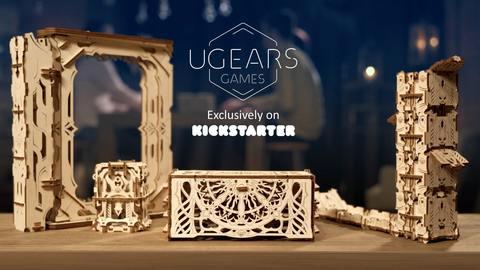 Ugears Games: коллекция уникальных механических устройств для настольных игр