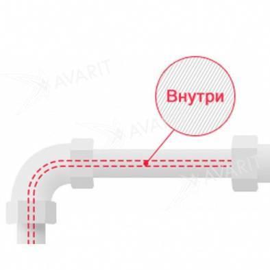 Обогрев водопровода кабелем внутри: видео