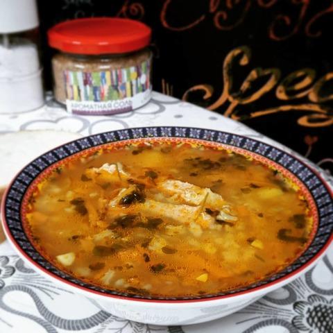 Рисовый томатный суп с Карри