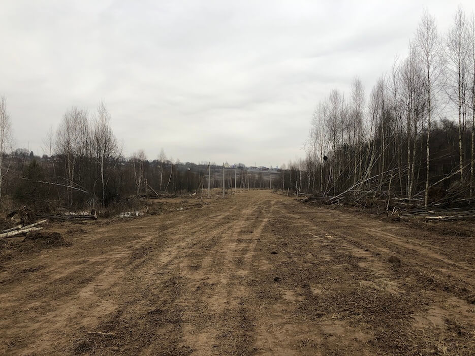 Фотоотчет о планировке основания дорог в северной части «Усадьбы Романово»