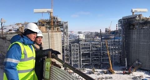 Из Китая на Ямал. А. Новак осмотрел основные объекты строительства завода Ямал СПГ и порта Сабетта