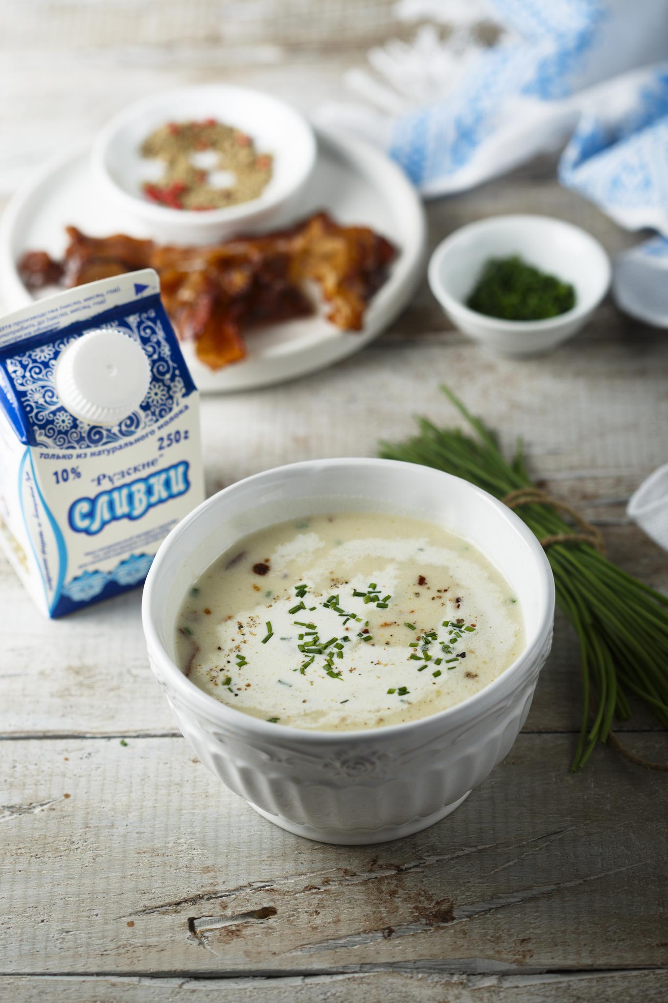 Картофельный суп с Рузскими Сливками