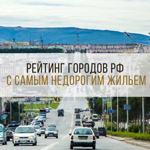Рейтинг городов РФ с самым недорогим жильем