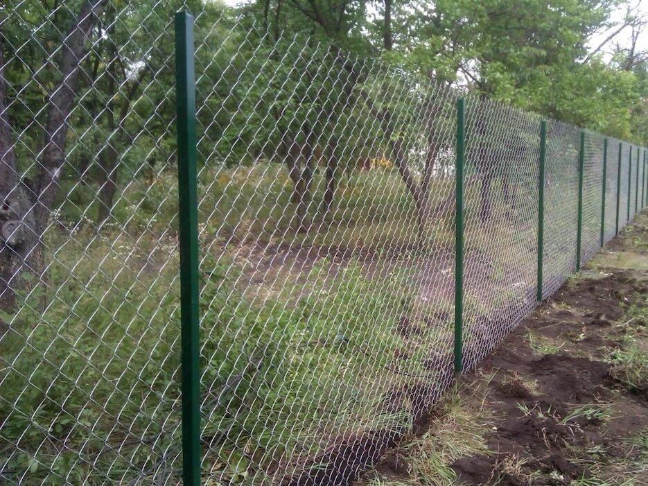 Забор из сетки рабицы: преимущества и недостатки