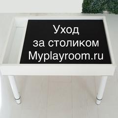 Как ухаживать за столиками Myplayroom.ru