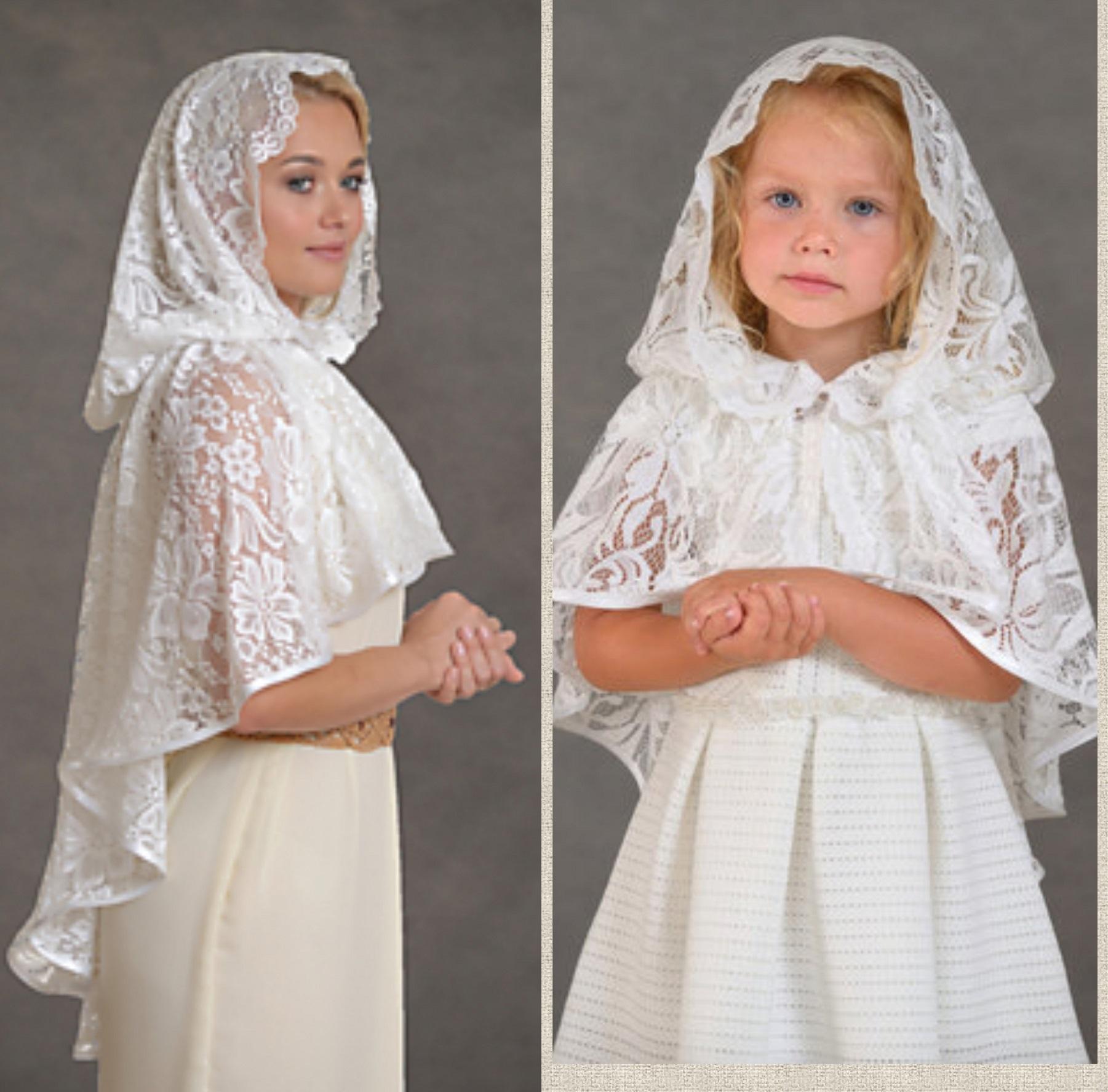 Женские платки и палантины в церковь