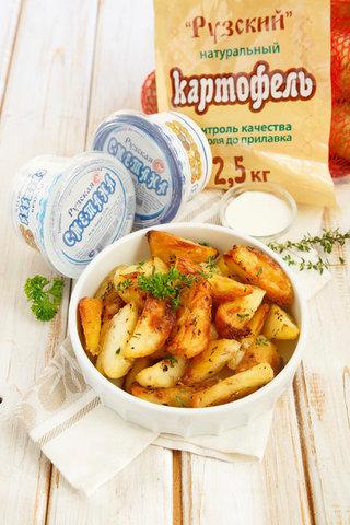 Картофель, запеченый по-деревенски с травами