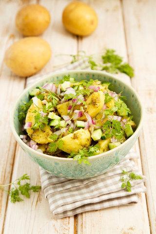 Картофельный салат с песто