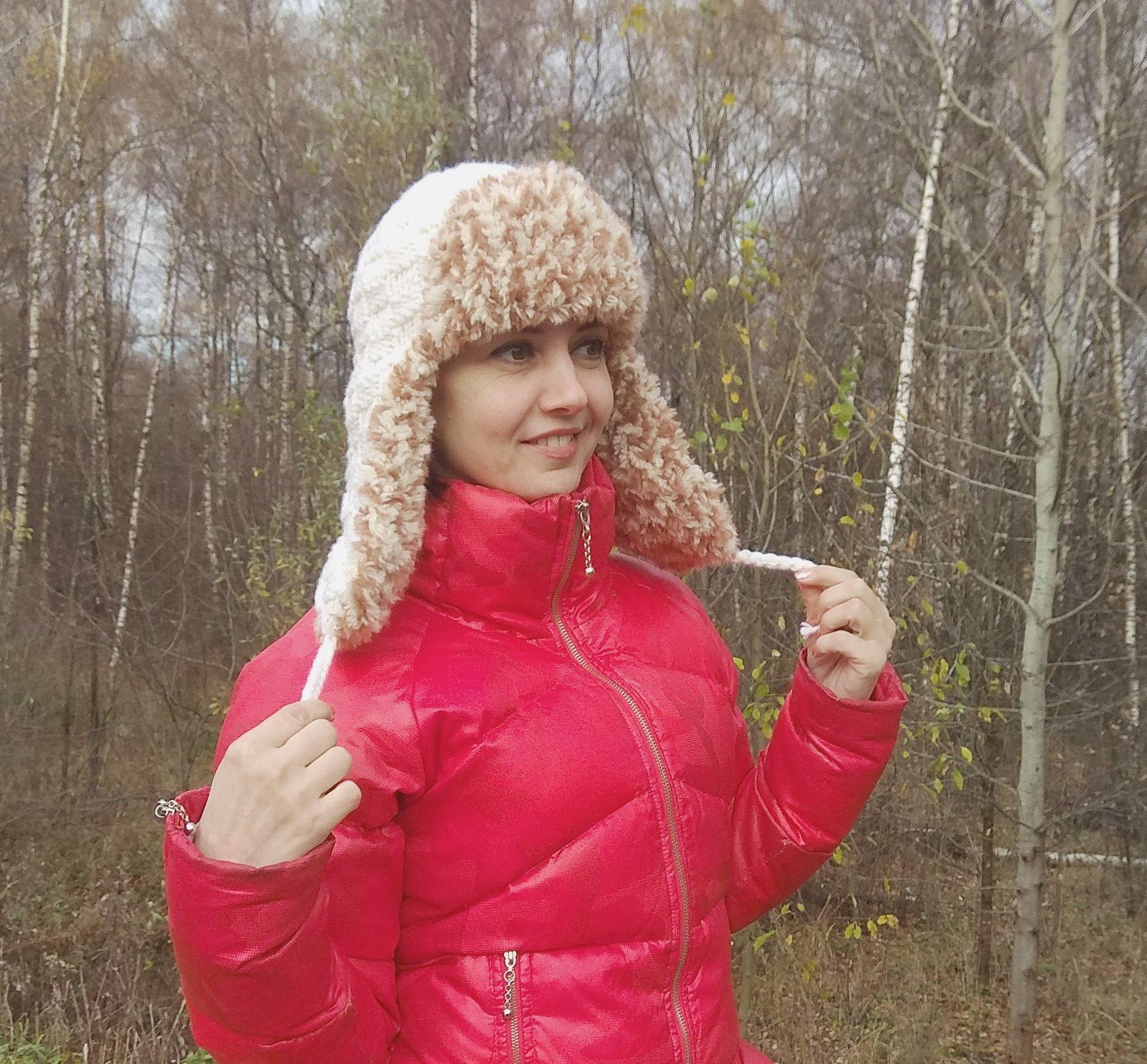 В продаже появилось описание вязаной шапки-ушанки