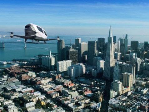 Квадрокоптер Ehang 184 - первый в мире дрон для перевозки пассажиров