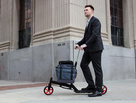 Самокат с багажником Nimble Urban (фото и видео)