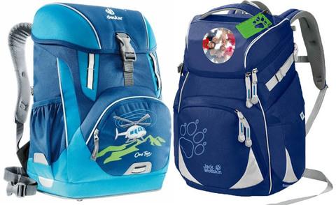 Сравнение школьных рюкзаков Jack Wolfskin Classmate и Deuter OneTwo