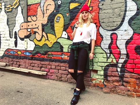 Яна и уличное искусство