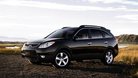 Hyundai ix55 на Пневмобаллонах BlackStone и без ПРОСЕВШИХ пружин