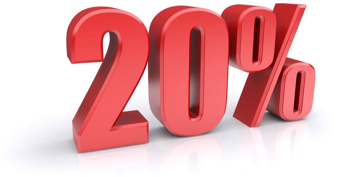 Скидка 20% при регистрации на сайте