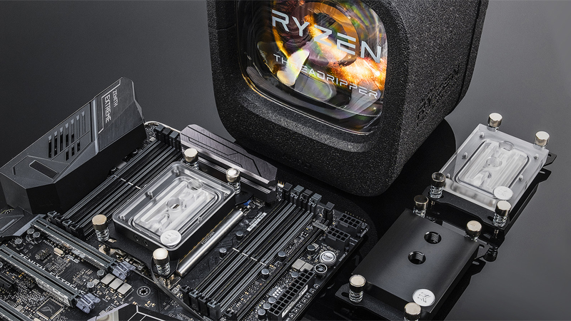 Водоблок от EK Water Blocks для процессоров AMD Threadripper