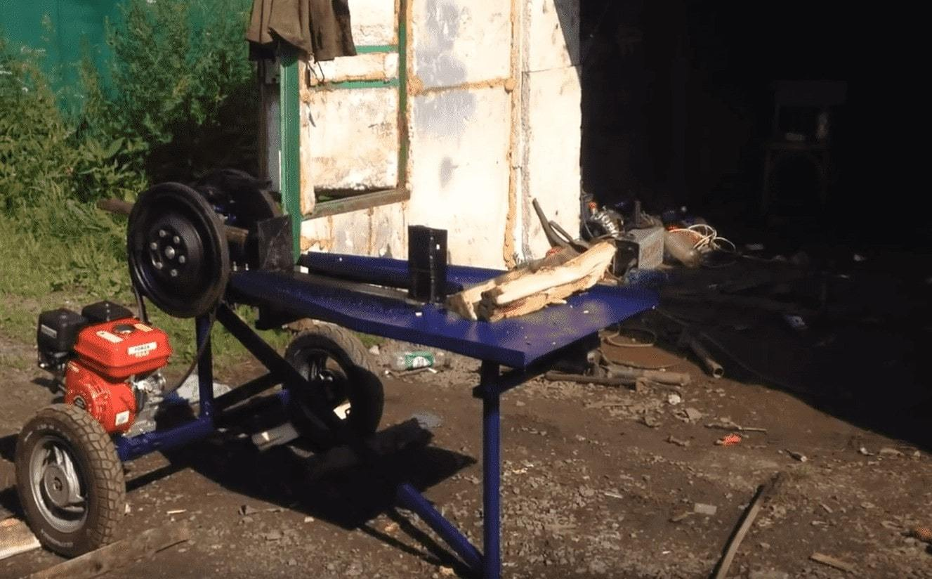 Самодельный дровокол – заготовка дров без особых усилий