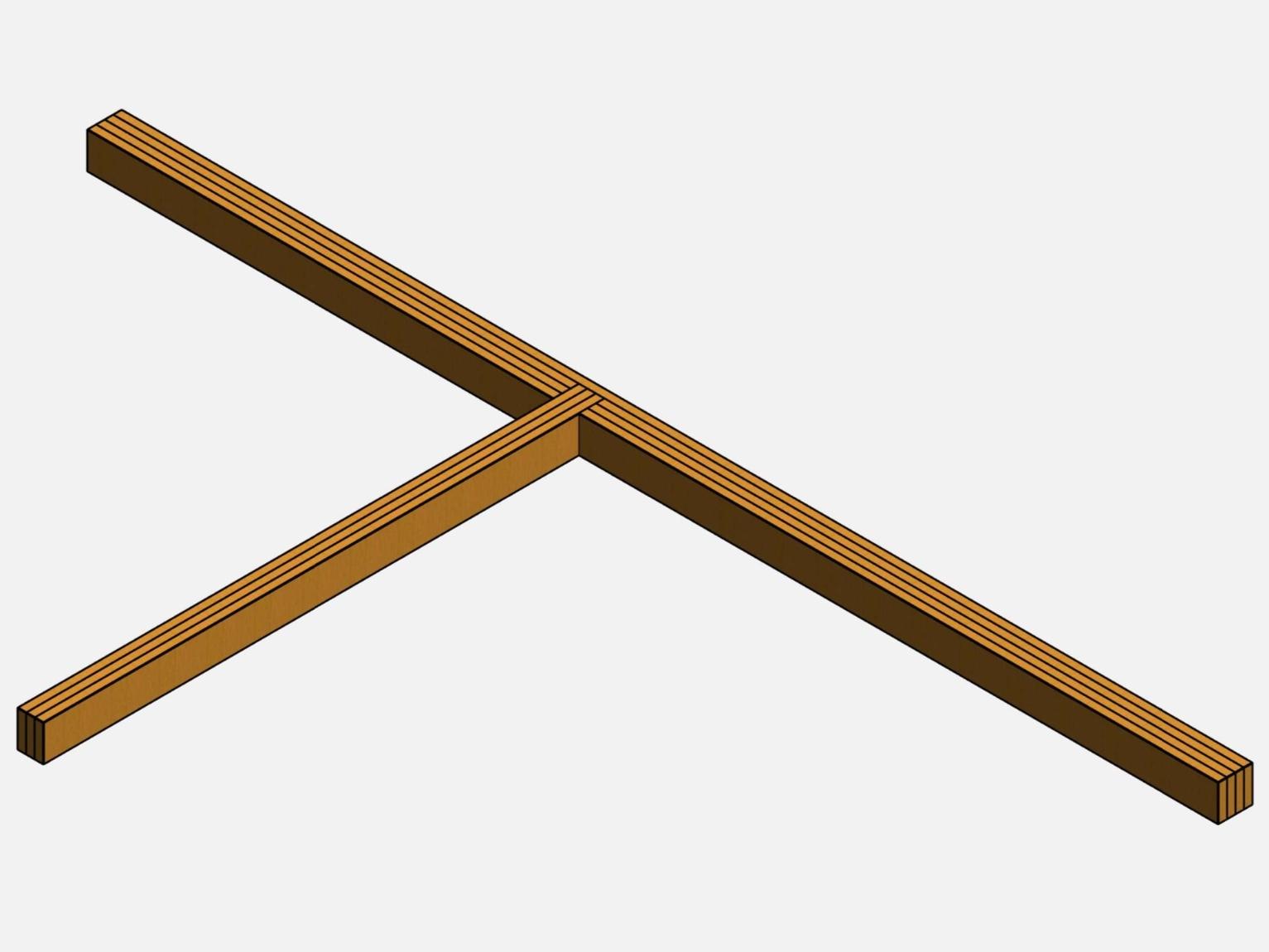 Соединение обвязки — Т-образный узел
