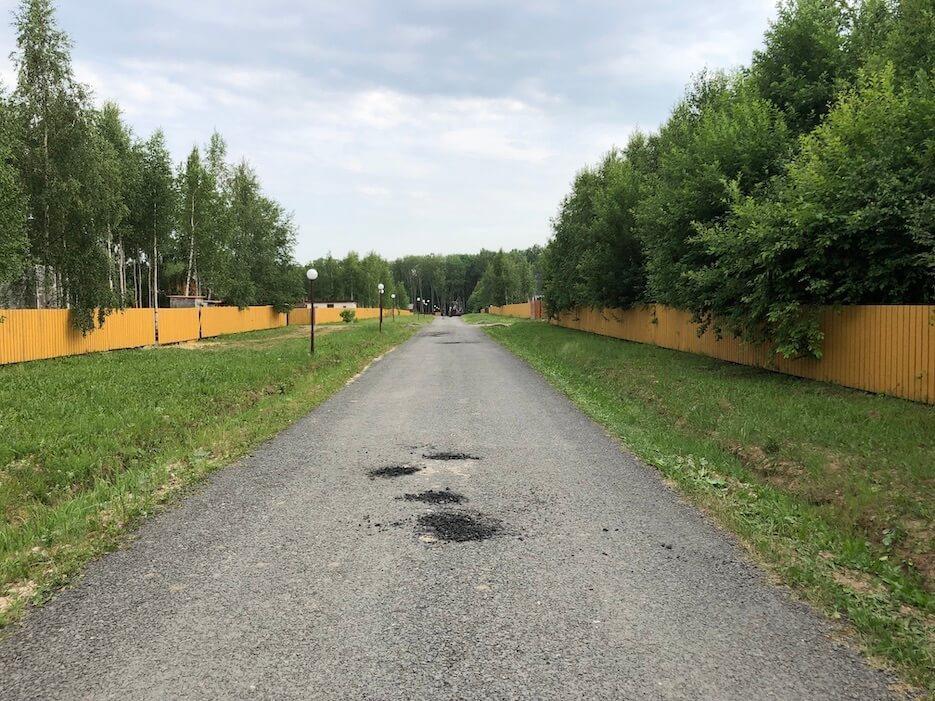 Ремонт дорог в «Романовском Парке»