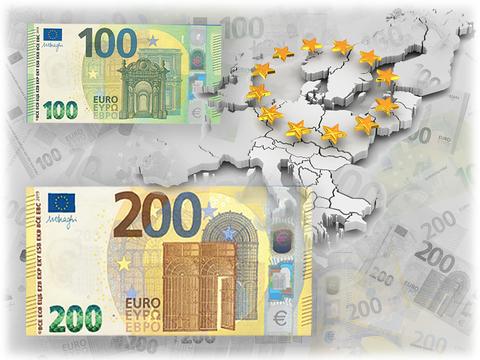 Банкноты номиналом €100 и 200 нового образца уже в обиходе