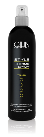 Термозащитный спрей для выпрямления волос 250мл/ Thermo Protective Hair Straightening Sp OLLIN STYLE