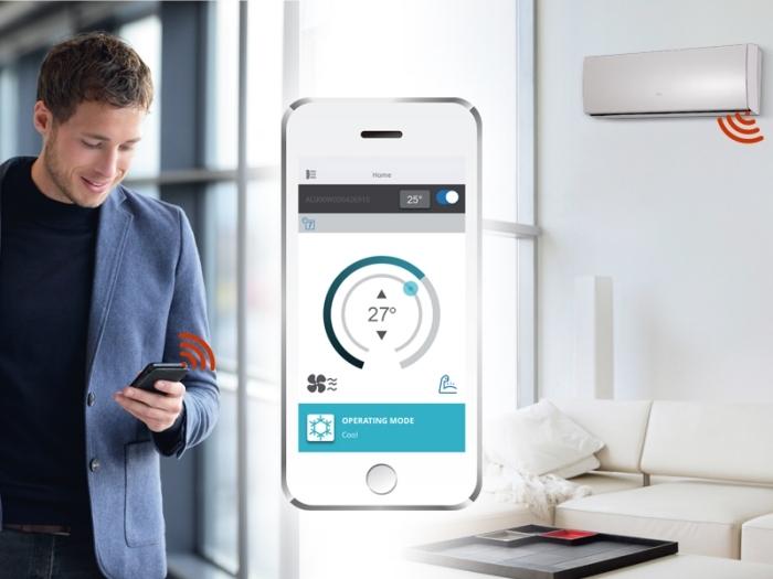 Fujitsu рекламирует смартфонное управление климатической техникой