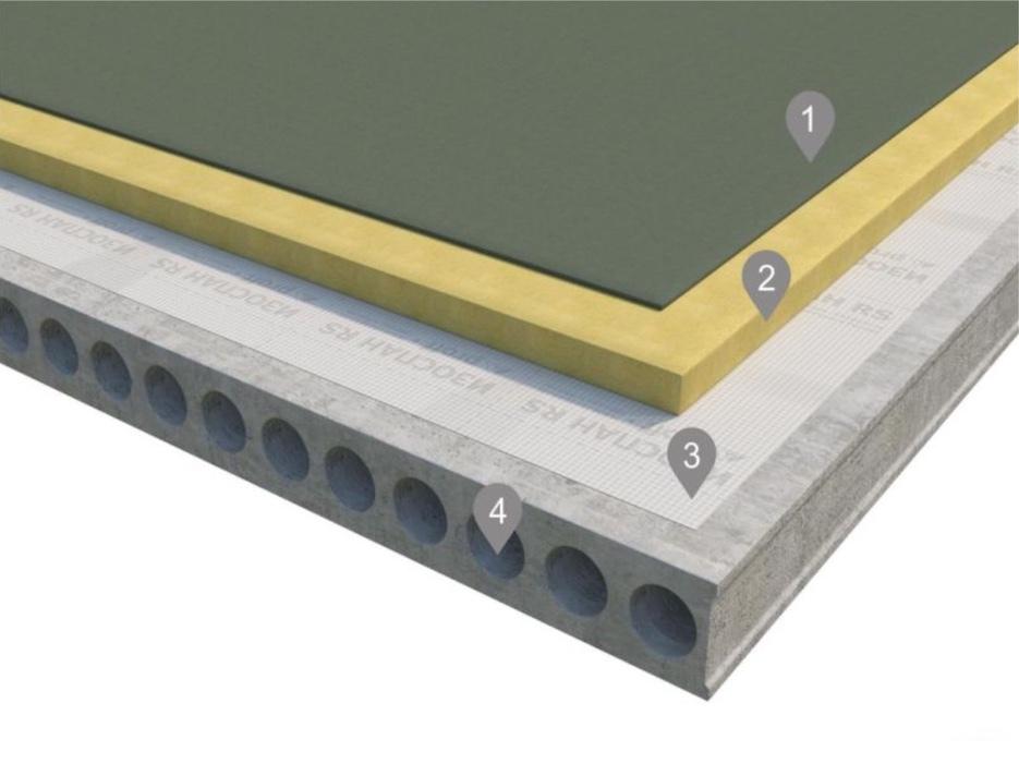 Монтаж паро-гидроизоляции на утеплённой плоской кровле